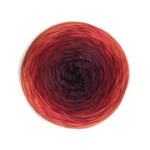 Wolle, Blutorange 900m / 4-fach