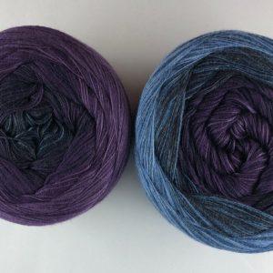 Wolle, Denim Lavendel 550m / 5-fach