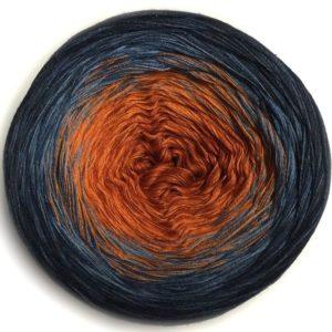 Wolle, Denim Sanddorn 550m / 5-fach