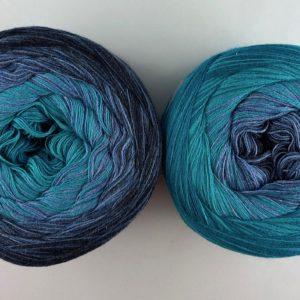 Wolle, Denim Smaragd 750m / 4-fach