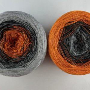 Wolle, Stone Orange 750m / 4-fach